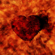 Stock Photo: Burning heart with flame effect