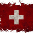 Switzerland flag on old vintage paper in isolated white backgrou — Stock Photo #8970599