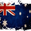 Australiflag on old vintage paper in isolated white background — Stock Photo #8970903