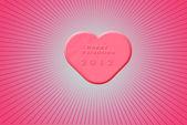 Sweet looking pink heart — Stock Photo