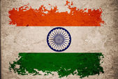 India flag on old vintage paper background concept — Stock fotografie