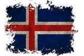 Islands flagga på gamla vintage papper i isolerade vit bakgrund — Stockfoto