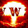 World war 3 nuclear background — Stock Photo