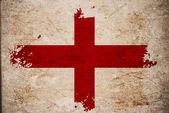 Bandeira inglesa no velho papel vintage — Foto Stock