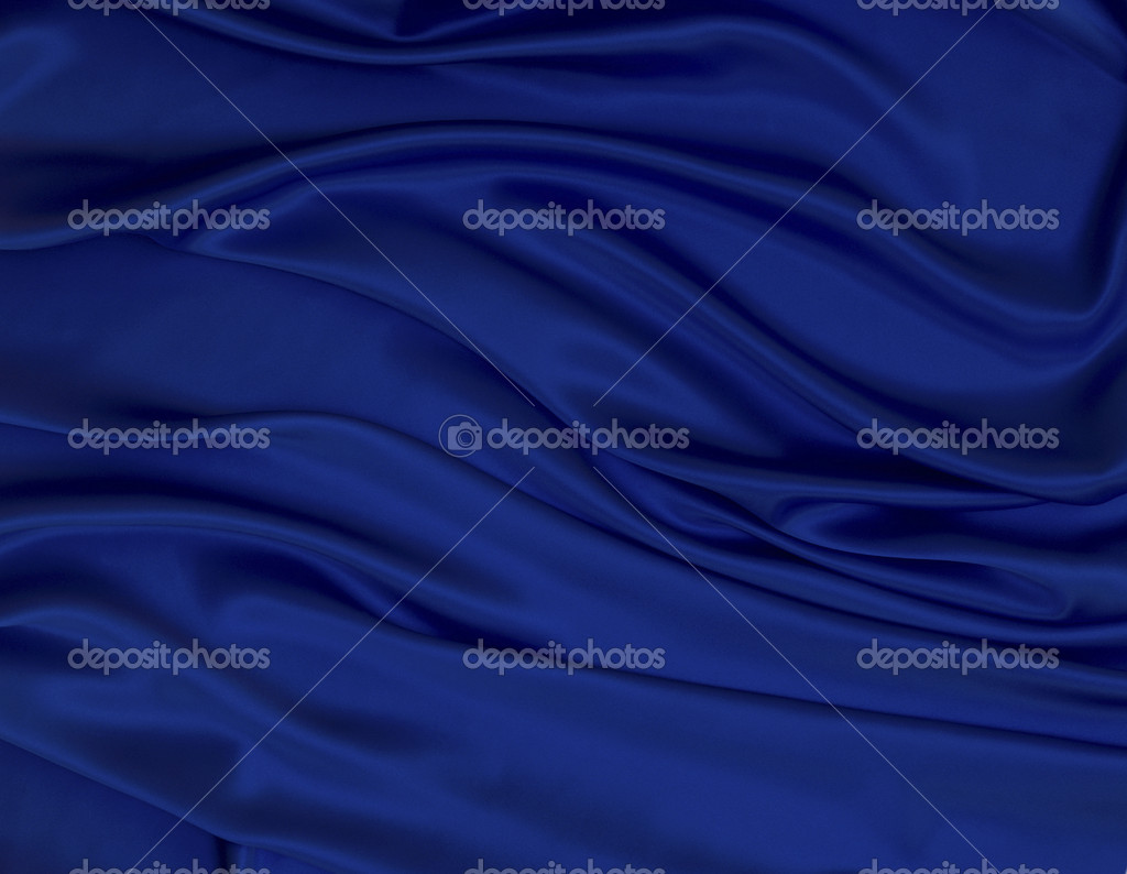 Close up of blue silk textured cloth — Stock Photo #7969449