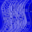 Blueprint circuit board — Stock Photo #9204202