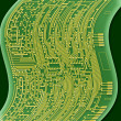 Blueprint circuit board — Stock Photo