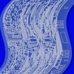 Blueprint circuit board — Stock Photo #9261509