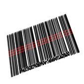 Three-dimensional metal bar code — Stock Photo