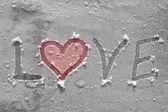 Love on ice — Stock Photo