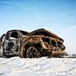 Burnt car — Stock Photo #9178907