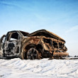 Stock Photo: Burnt car