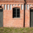 Double entrance in old factory - Stock Photo