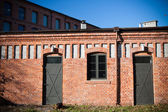 Double entrance in old factory — Stock Photo