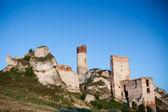 Old castle ruins near czestochowa — Stock Photo