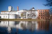 白工厂在罗兹,波兰 — 图库照片