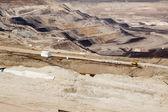 Surface coal mining-excavation — Stock Photo