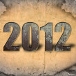 Stock Photo: Year 2012 with grunge background