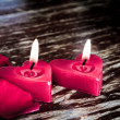 Valentines candles — Stock Photo #10460863