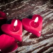 Valentines candles — Stock Photo #10460869