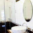 White bathroom with toilet — Stock Photo