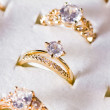 Golden ring and diamond — Stock Photo #10461628