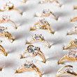Golden ring and diamond — Stock Photo