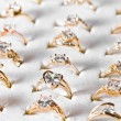 Stock Photo: Golden ring and diamond