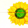 Stock Photo: Sunflowers painting