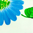 Blue flowers painting — Stock Photo