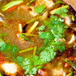 Spicy tom yum soup with shrimp — Stock Photo