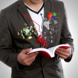 Stock Photo: Young mreading book