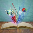 Magic book — Stock Photo #10462078