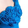 Blue rose fabric — Stock Photo