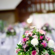 Rose flower on the wedding — Stock Photo
