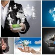 Foto Stock: Collection of social networking concept