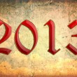 Year 2013 with grunge background - Stock Photo