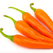 Orangr hot chili pepper isolated on a white background — Stock Photo