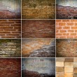 Collection of brick wall — Stock Photo