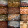 Collection of brick wall — Foto Stock