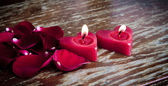 Valentines candles — Photo