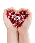 Hands forming heart — Stock Photo