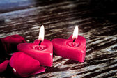 Valentines candles — Stock Photo