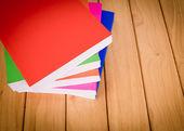 Books on wood — Stock Photo