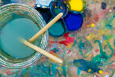 Paint buckets — Stock Photo