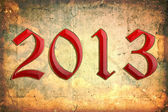 Year 2013 with grunge background — Stock Photo