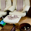Stock Photo: Foot massage chair in sproom