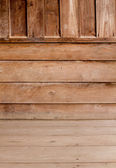 Room with a Wood Paneled — Stock Photo
