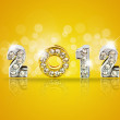 New year 2011 background with back light and place for your text — Stock Photo