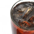 Glass with cola — Stock Photo